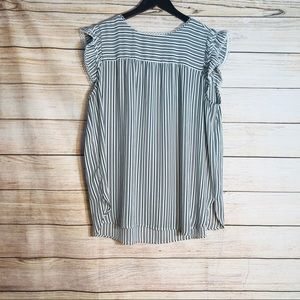 Loft striped blouse top sz XL